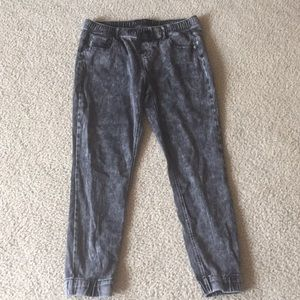 CP Jeans Skinny Acid Wash Distressed Joggers